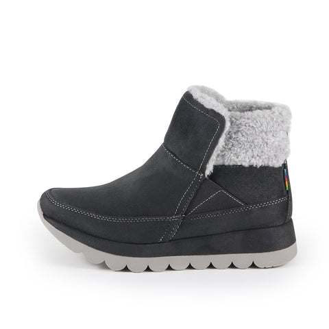 Davina Wool Ankle Boots (Charcoal)