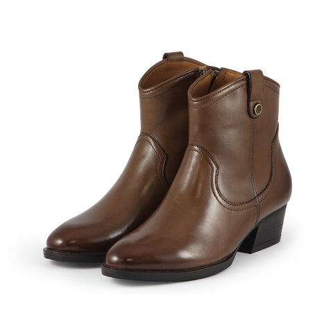 Alameda Western Ankle Boots (Luggage)