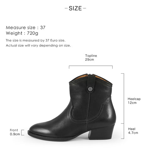 Alameda Western Ankle Boots (Russet)