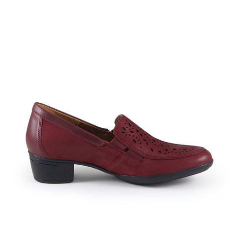 Pavia Perforated Slip-Ons (Merlot)
