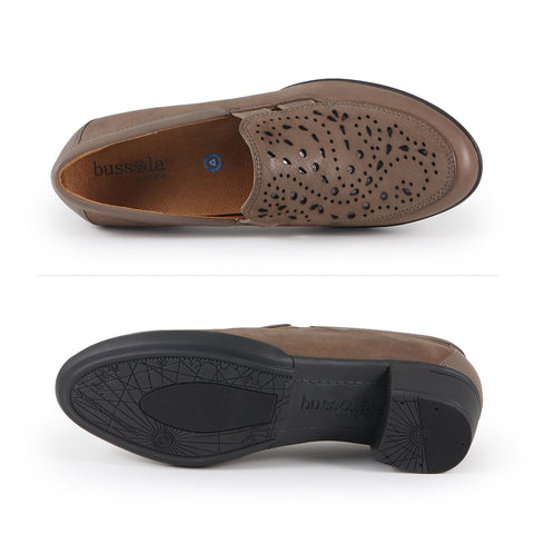 Pavia Perforated Slip-Ons (Fossil)