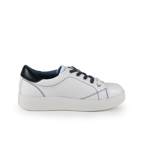 Lizzy Lace-Up Sneakers (White)