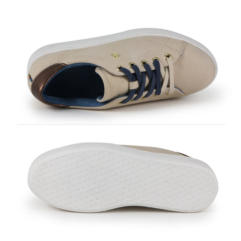 Lizzy Lace-Up Sneakers (Beige)