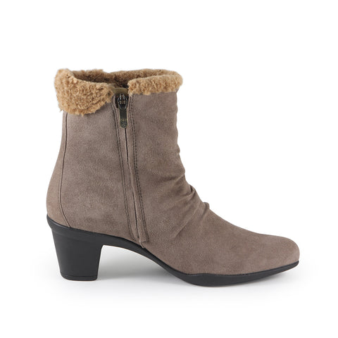 Teslin Snap Button Ankle Boots (Fossil)