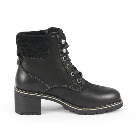 Gaia Heel Mountain Ankle Boots (Black)