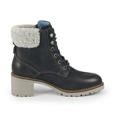 Gaia Heel Mountain Ankle Boots (Midnight Blue)