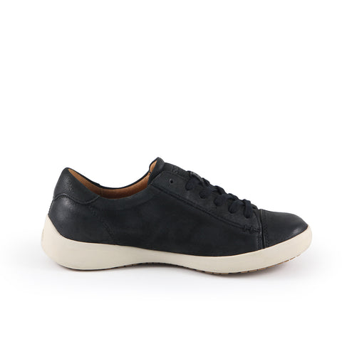 Lecce Lace-Up Sneakers (Black)