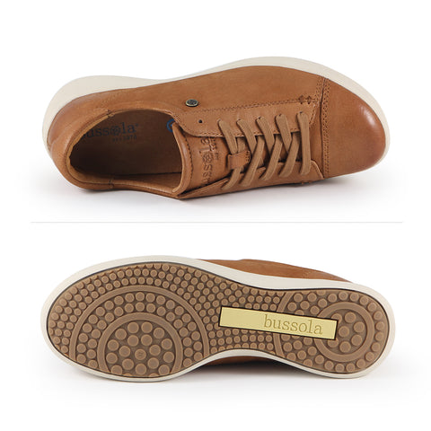 Lecce Lace-Up Sneakers (Cuoio)