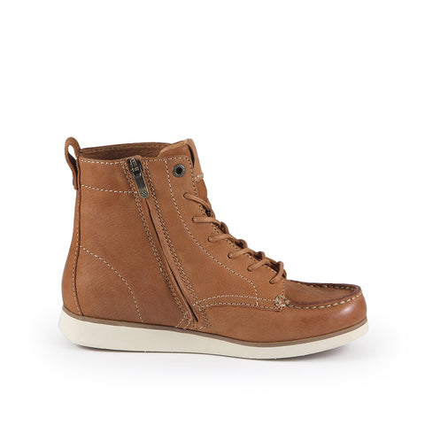 Koln Moccasin Ankle Boots (Cuoio)