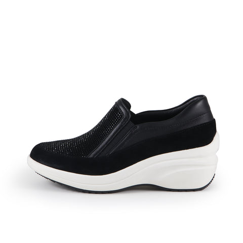 Yokohama Crystal Slip-On Sneakers (Black)