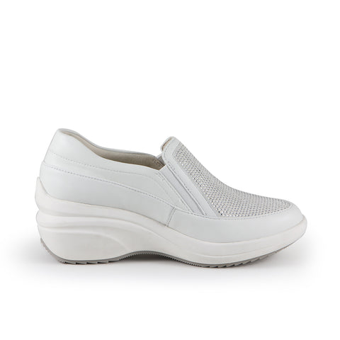 Yokohama Crystal Slip-On Sneakers (Bianco)