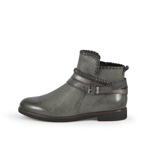 Helena Strap Ankle Boots (Charcoal)