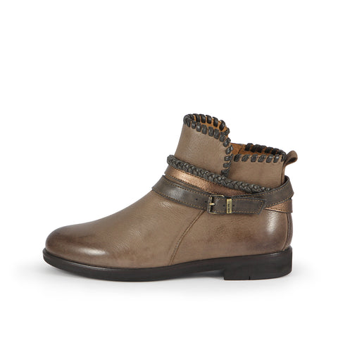 Helena Strap Ankle Boots (Fossil)