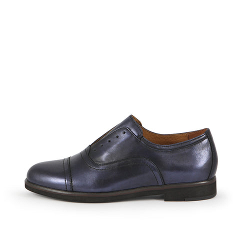 Honoria Oxford Shoes (Denim)