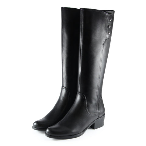 Antwerpen Snap Button Boots (Black)