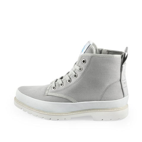Kalahari Lace-Up Ankle Boots (Silver)
