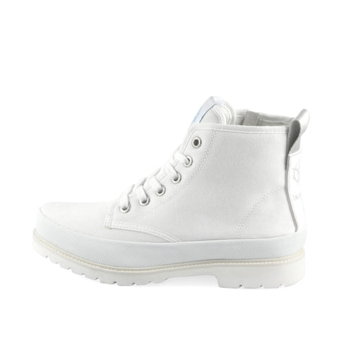 Kalahari Lace-Up Ankle Boots (Bianco)