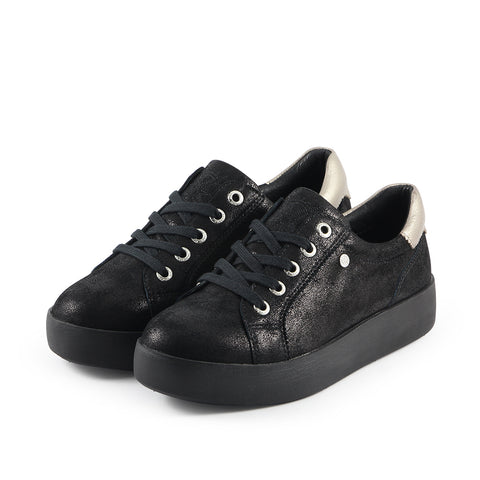 Lizzy Lace-Up Sneakers (Black)