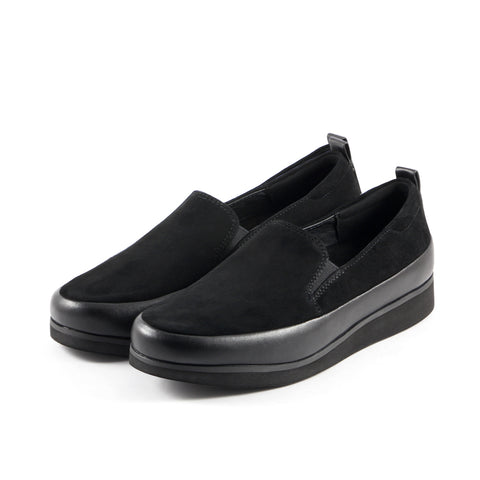 Koln Slip-On Shoes (Silk Suede Nero)