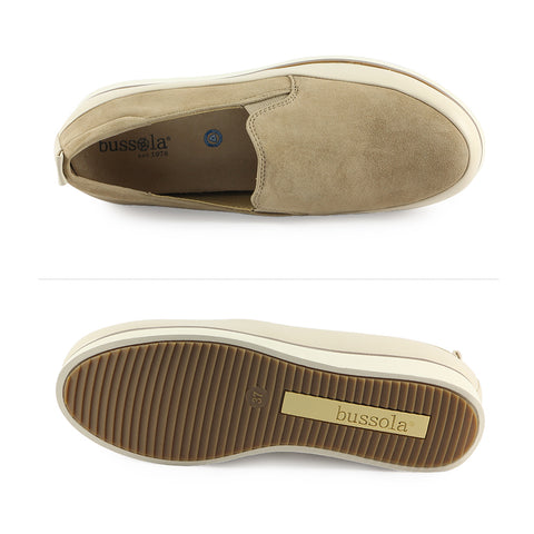 Koln Slip-On Shoes (Silk Suede Terra)