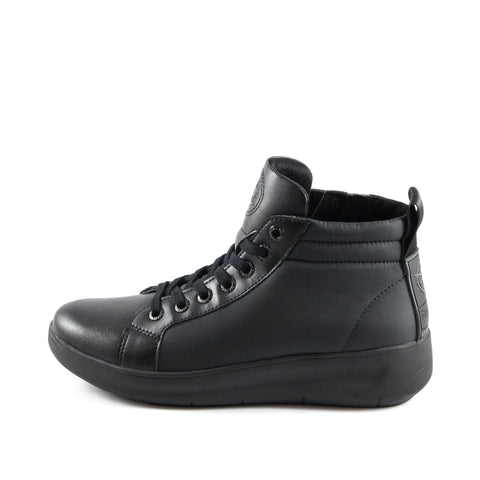 Ostuni High-Top Lace-Up Sneakers (Nero Edition)