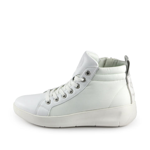 Ostuni High-Top Lace-Up Sneakers (Bianco)
