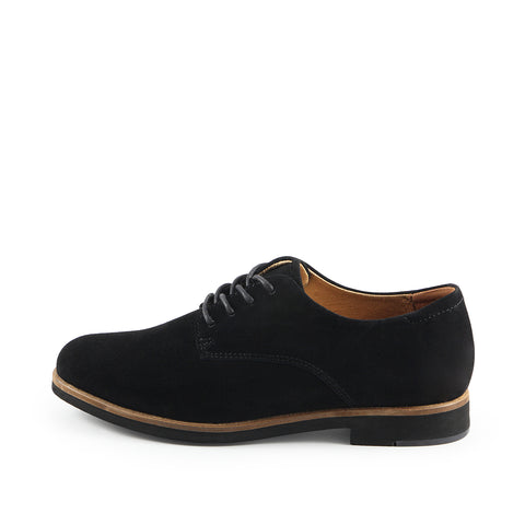 Napoli Derby Shoes (Silk Suede Nero)