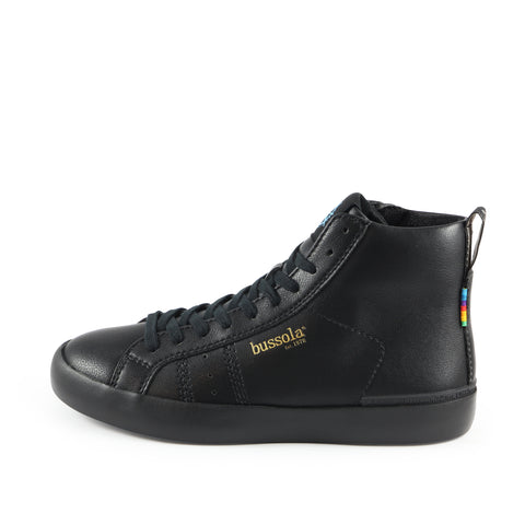 Toscana High-Top Lace-Up Sneakers (Nero Edition)