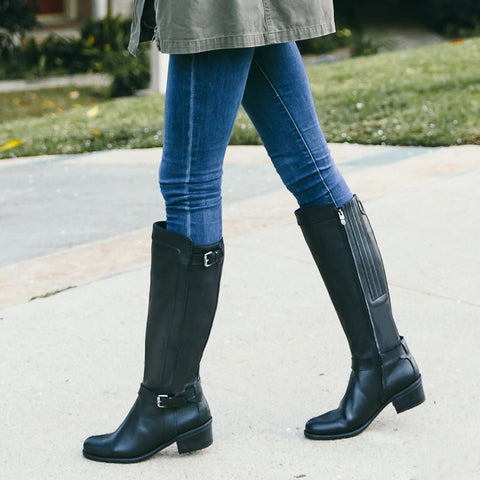 Antwerpen Water Repellent Knee-High Boots (Black)