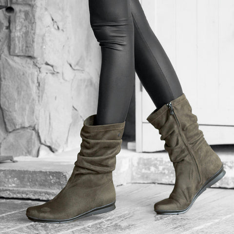 Coimbra Flexible Mid-High Boots (Olive)