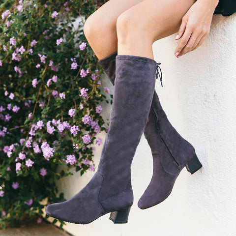 Barbados Stretch Boots (Fossil)