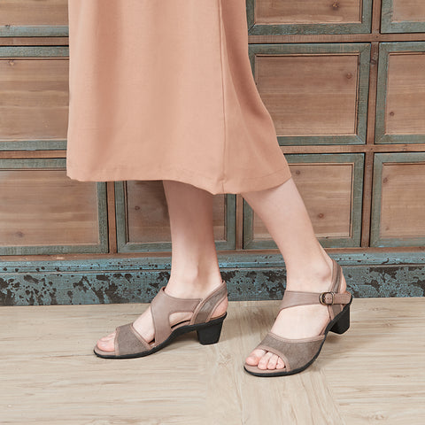 Bechar Asymmetry Sandals (Taupe)