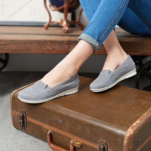 Coimbra Punched Slip-On (Taupe)