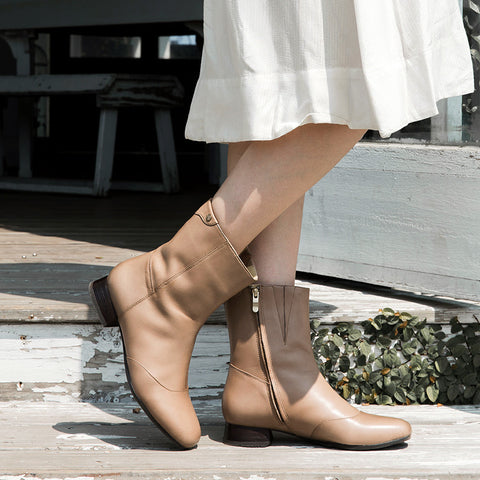Lausanne Mid High Boots (Praline)