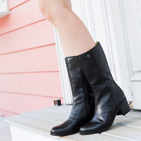 Geneve Mid-High Boots (Black)