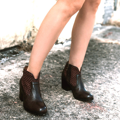 Reikiavik Woven Ankle Boots (Brown)