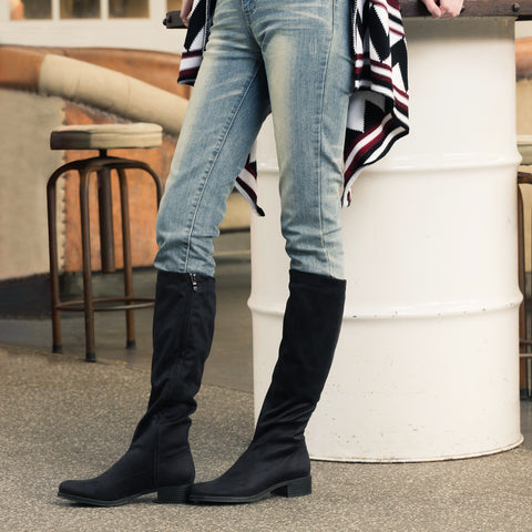 Siena Stretch Boots (Charcoal)