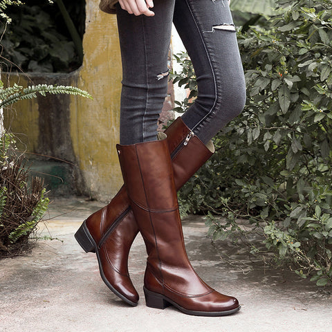 Antwerpen Knee-High Boots (Russet)