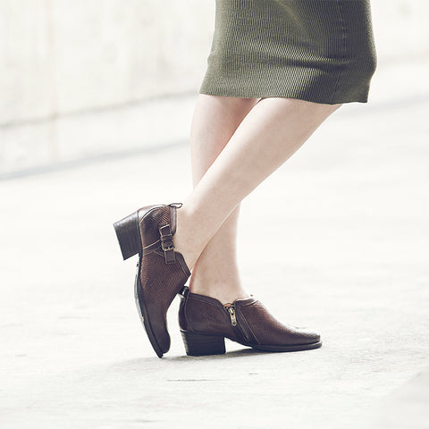 Alameda Strap Shooties (Brown)