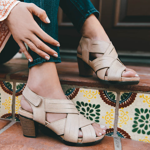 Lima Cross Strap Sandals (Doeskin)
