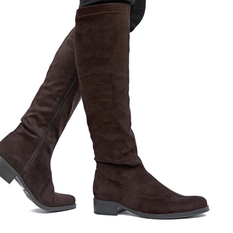Siena Flexible Knee-High Boots (Cabernet)