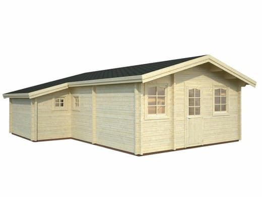 Chalet bois de loisir HD/ EM de 39.2m² ( surface habitable) en madriers massifs de 70mm