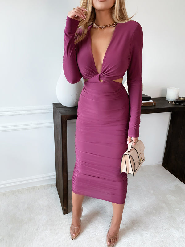 Fiorel  Magenta Dress