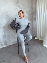 Lauren Heather Grey Jumpsuit