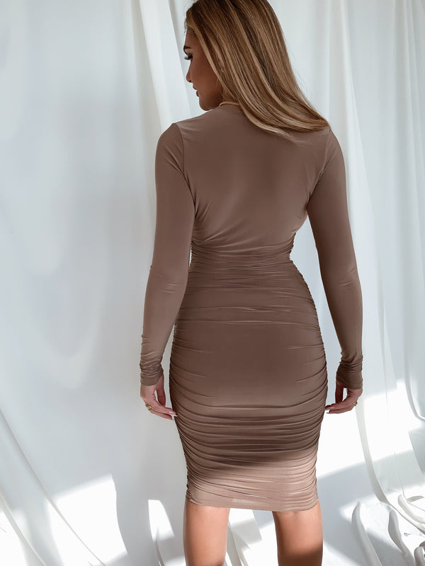 Marissa Taupe Dress