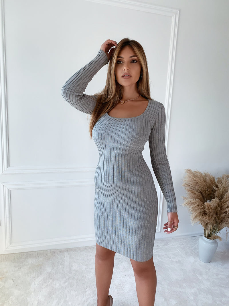 Megan Heather Grey Dress