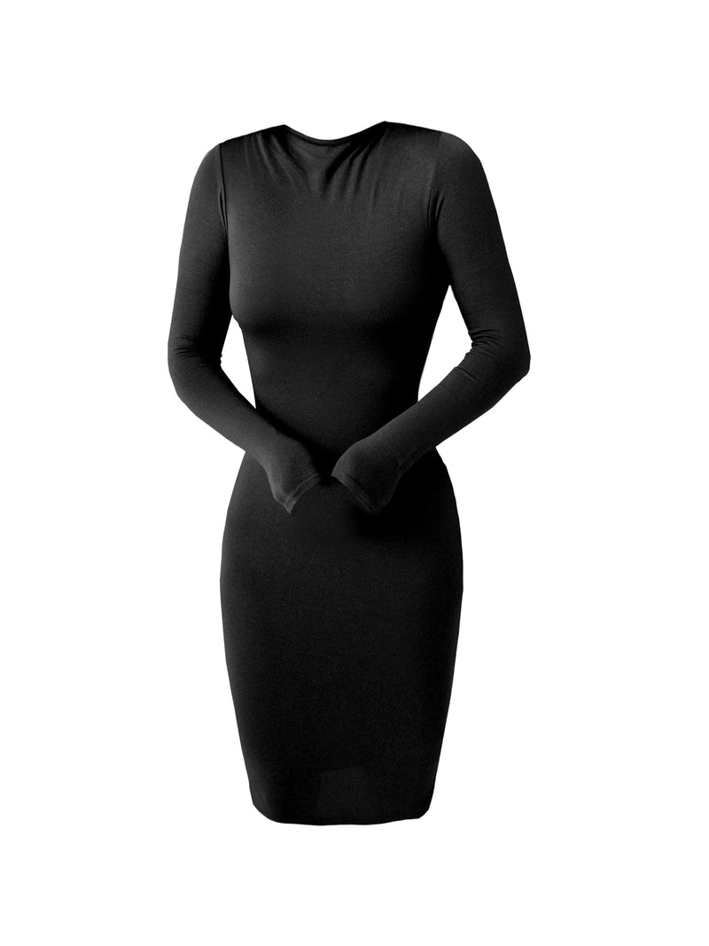 Black Camille Mock Dress