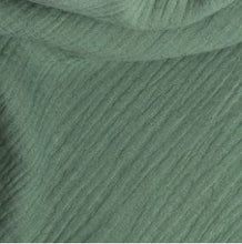 Load image into Gallery viewer, Bed Linen Muslin Cotton • Old Green