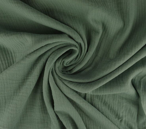 cotton blanket muslin cotton in mint green