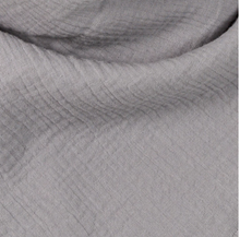 Load image into Gallery viewer, grey muslin cotton organic